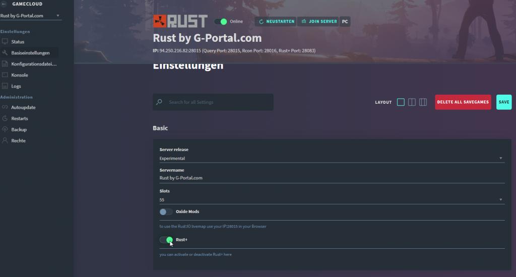 Single mod rust player Can Rust